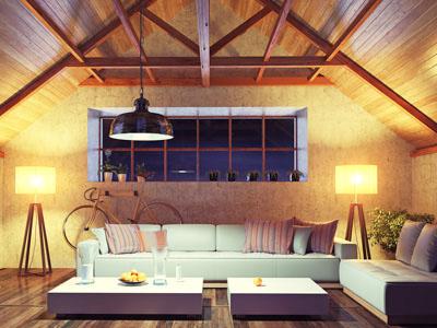 Çok temiz ve düzenli bir oturma odası